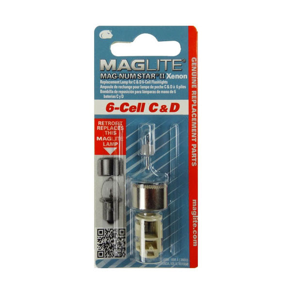 MAGLITE Replacement Lamp, 6-Cell D, Clear (LMXA601)