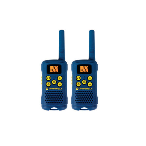 MOTOROLA Talkabout 2-Way Radios, 16 Mile Range, 2-Pack, Light Blue (MG160A)
