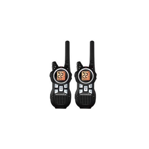 MOTOROLA Talkabout 2-Way Radios, 35-Mile Range, Emerg. Alert, NOAA, VOX, Flashlight, Black (MR350R)