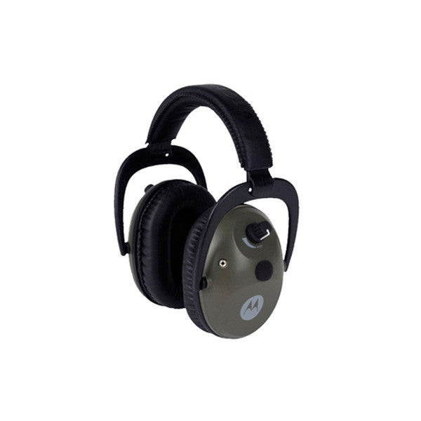MOTOROLA Talkabout Electronic Earmuff w/ PTT Microphone Cable, Clipping, Hunter Green (MHP71)