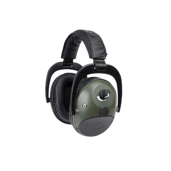 MOTOROLA Talkabout Electronic Earmuff w/ PTT Microphone Cable, Compression, Hunter Green (MHP81)