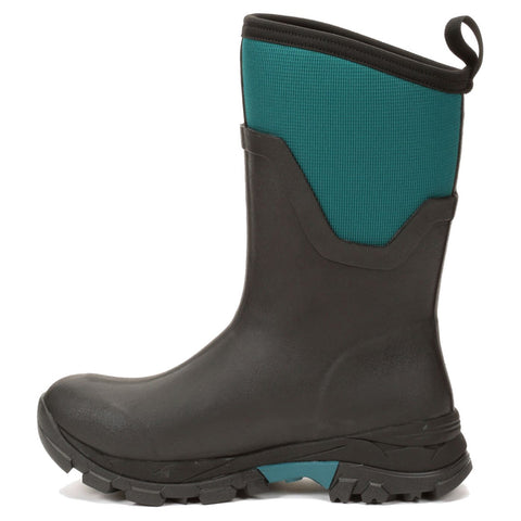 MUCK BOOT COMPANY Womens Arctic Sport II Mid AG Winter Black/Teal Boots (AS2MV-300-BLU)