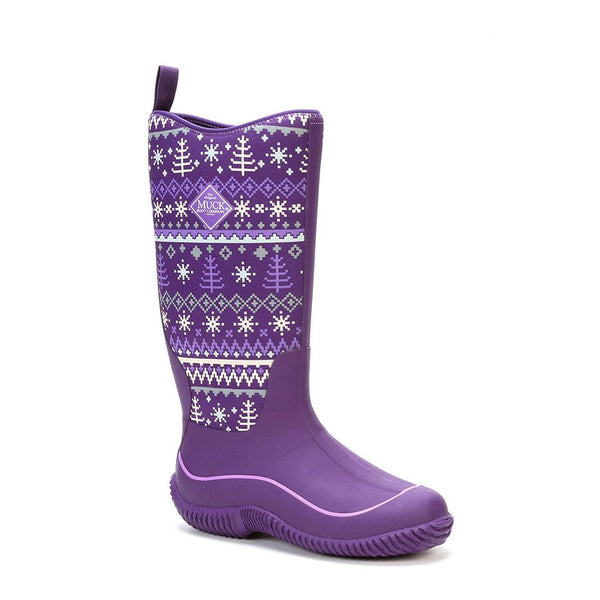 MUCK BOOT COMPANY Womens Hale Purple Winter Knit Boots (HAW-5WKN-PUR)