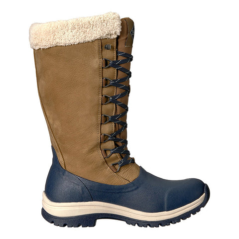 MUCK BOOT COMPANY Womens Arctic Apres Lace Tall Winter Blue Boots (WALT-201-BLU)