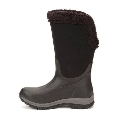 MUCK BOOT COMPANY Womens Arctic Apres Tall 15in Winter Black Boots (WAT-000-BLK)