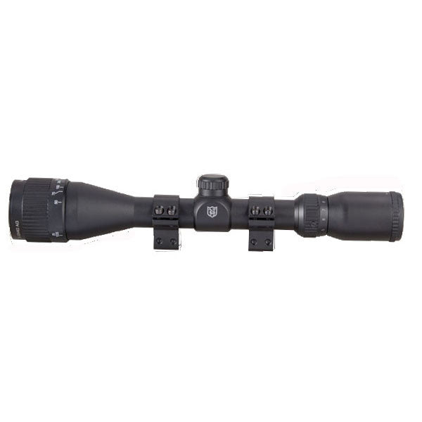 NIKKO STIRLING Mountmaster 3-9X40 AO Rifle Scope, Illum. Mil-Dot Reticle w/ Rings (NMMI3940AO)