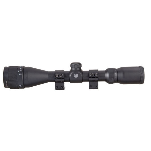 NIKKO STIRLING Mountmaster 3-9X40 AO Rifle Scope, Mil-Dot Reticle w/ Rings (NMM3940AO)