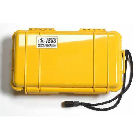 PELICAN 1060 Micro Case, 8.25x4.25x2.25, Yellow/Clear (1060027100)