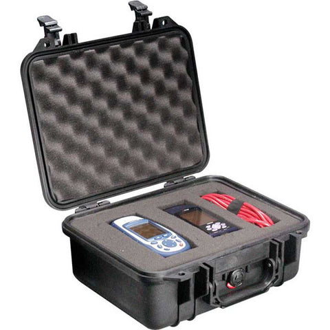 PELICAN 1400 Case, 11.81x8.87x5.18, Black w/ Foam (1400000110)
