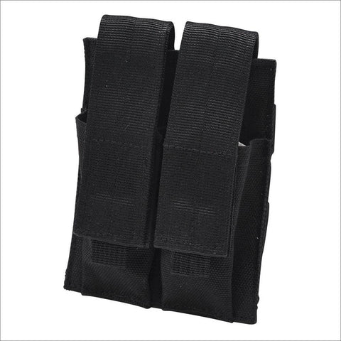 PEACE KEEPER Black Double Pistol Magazine Pouch (P22020)