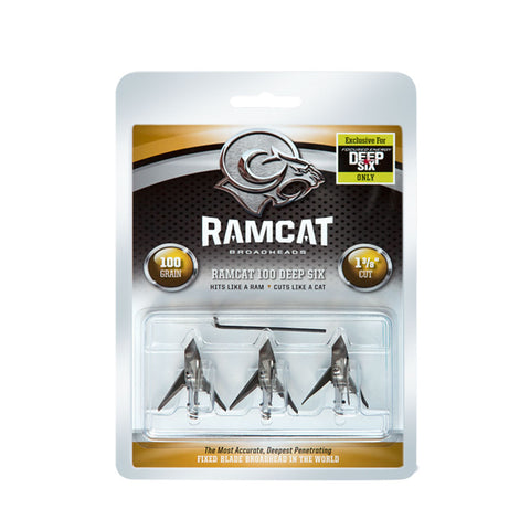 RAMCAT 3 Pack of Deep Six 100 Grain Broadheads (R1002)
