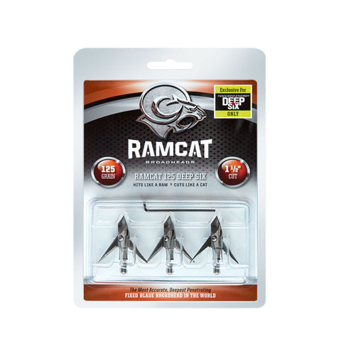 RAMCAT 3 Pack of Deep Six 125 Grain Broadheads (R1003)