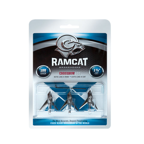 RAMCAT 3 Pack of 100 Grain Crossbow Broadheads (R2000)