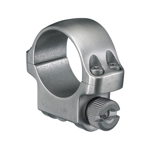 RUGER 3K 1 in Low Stainless Steel Scope Ring (90281)
