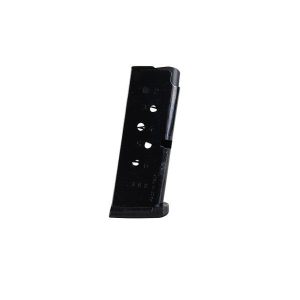 RUGER LCP Magazine, 380 Auto, 6 Rd, Steel Blued (90330)