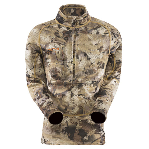 SITKA GEAR Optifade Waterfowl Marsh Core Heavyweight Zip-T Long Sleeve Shirt (10039-WL)