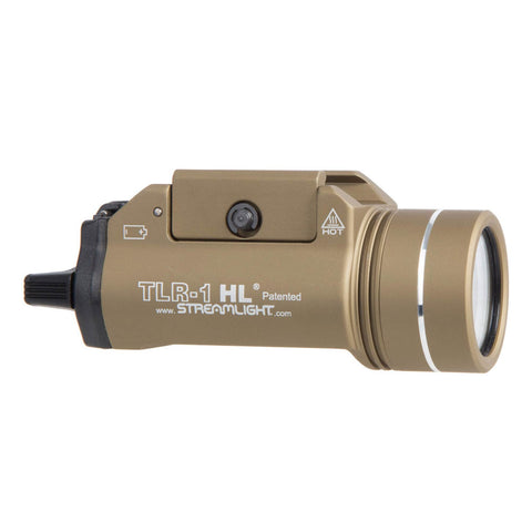 STREAMLIGHT TLR-1-HL Rail Mounted 800 Lumens Flat Dark Earth Tactical Wepon Light (69266)