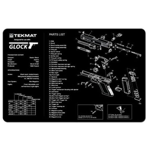 TEKMAT 11x17in Handgun Cleaning Mat with Glock 17 Imprint (17GLOCK)