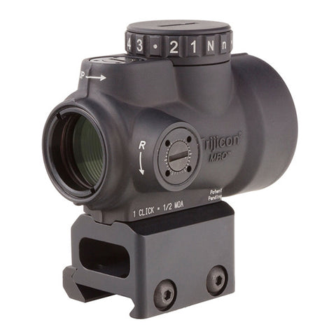 TRIJICON 1x25 MRO 2.0 MOA ADJ Red Dot; Mount AC32068 (MRO-C-2200005)
