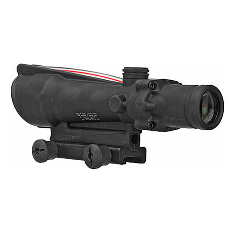 TRIJICON ACOG 3.5x35 Scope, Dual Illuminated Red Chevron .223 Ballistic Reticle, BAC, TA51 Mount (TA11F)