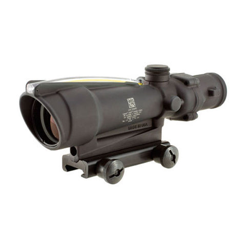 TRIJICON ACOG 3.5x35 Scope w/ TA51 Mount, Dual Illum Amber Chevron .308 Ballistic Reticle (TA11E-A)