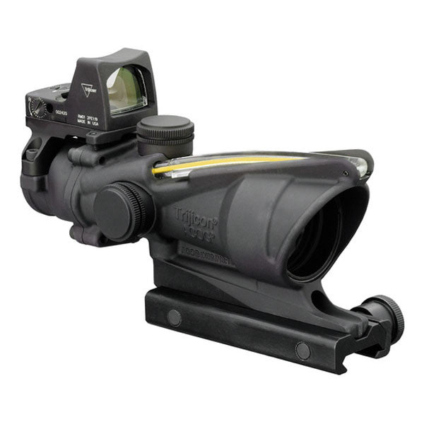TRIJICON ACOG 4x32 Scope, Dual Illuminated Amber Crosshair .223 Ballistic Reticle, w/ RMR Sight (TA31RMR-A)