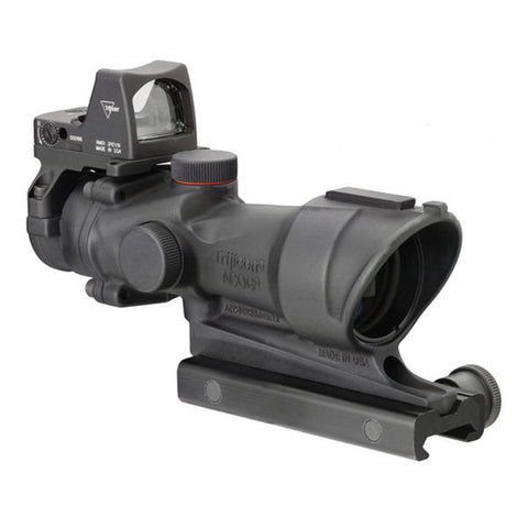 TRIJICON ACOG 4x32 Scope, Center Illuminated Amber Crosshair .223 Ballistic Reticle, w/ RMR Sight, ITAR