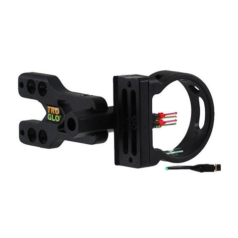 TRUGLO Brite-Site Xtreme Archery Sight, 5 Pin (4x.029 Dia) w/ Green TFO Pin (.040 Dia) (TG520XB)