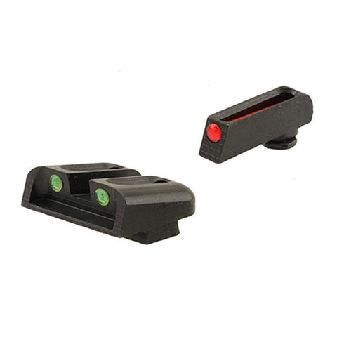TRUGLO Fiber Optic Handgun Sight, Front Red, Rear Green, Glock 17 - 39 (TG131G1)