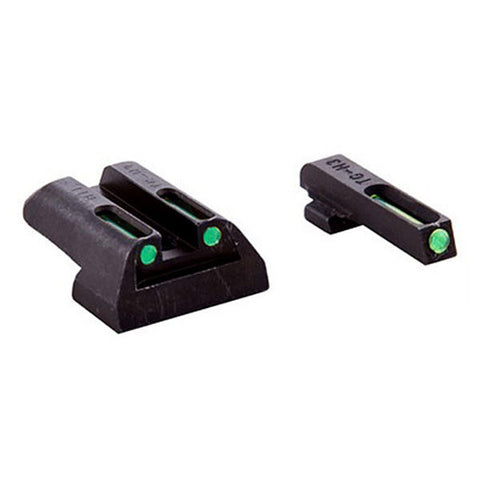 TRUGLO Tritium/Fiber Optic Handgun Sight, Front Green, Rear Green, Glock 17 - 39 (TG131GT1)