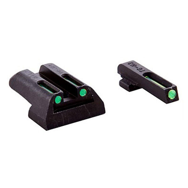 TRUGLO Tritium/Fiber Optic Handgun Sight, Front Green, Rear Green, S&W M&P (TG131MPT)