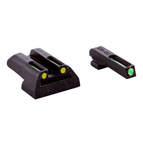TRUGLO Tritium/Fiber Optic Handgun Sight, Front Green, Rear Yellow, Glock 17 - 39 (TG131GT1Y)