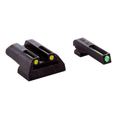 TRUGLO Tritium/Fiber Optic Handgun Sight, Front Green, Rear Yellow, Glock 20 - 37 (TG131GT2Y)