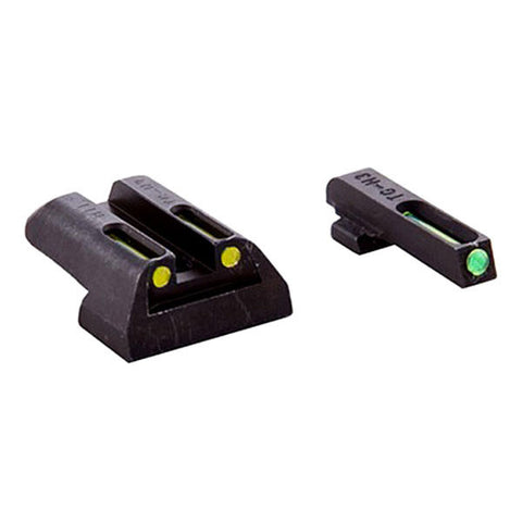 TRUGLO Tritium/Fiber Optic Handgun Sight, Front Green, Rear Yellow, Kimber (TG131KTY)