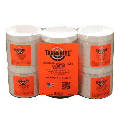 TANNERITE Brick 1lb Targets 4-Pack 1BR