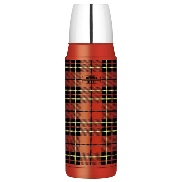 THERMOS Compact 16oz Red Plaid Beverage Bottle H2000RP6