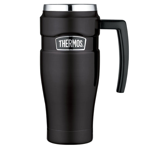 THERMOS Stainless King 16oz Blk Travel Mug SK1000BKTRI4