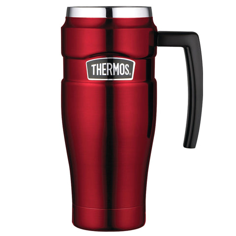 THERMOS Stainless King Vacuum Insulated 16oz Cranberry Travel Mug (SK1000CRTRI4)