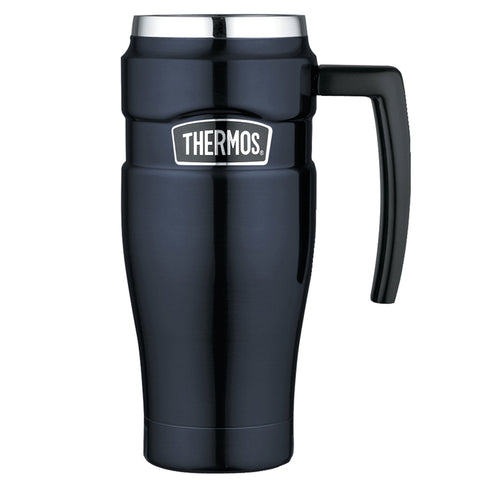 THERMOS Stainless King Vacuum Insulated 16oz Midnight Blue Travel Mug (SK1000MBTRI4)