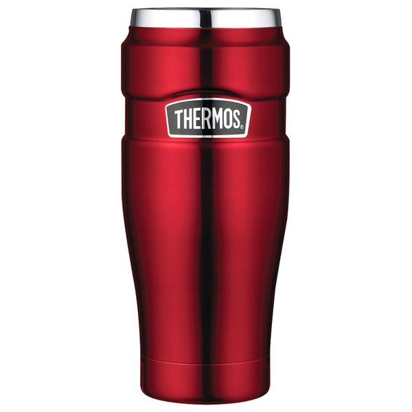 THERMOS Stainless King Vacuum Insulated 16oz Cranberry Travel Tumbler (SK1005CRTRI4)