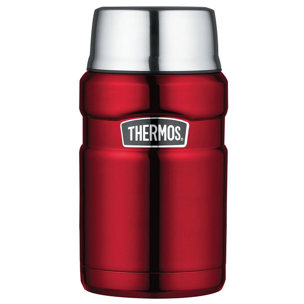 THERMOS Stainless King Vacuum Insulated 24oz Cranberry Food Jar (SK3020CRTRI4)