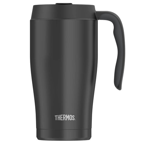 THERMOS Vacuum Insulated 22oz Stainless Steel Black Mug (TS1034BK4)
