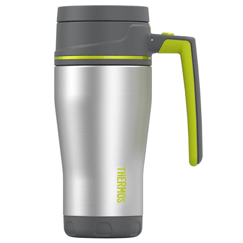 THERMOS Element5 16oz Stainless Steel Charcoal-Lime Travel Mug (TS1404CH4)