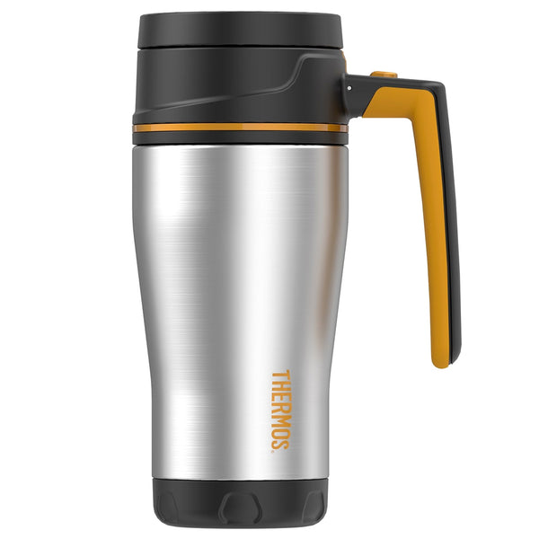 THERMOS Element5 16oz Stainless Steel Black-Orange Travel Mug (TS1405OR4)