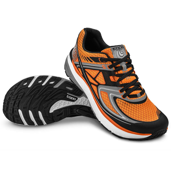 TOPO ATHLETIC M016-ORGBLK Ultrafly Orange/Black Men's Running Shoe