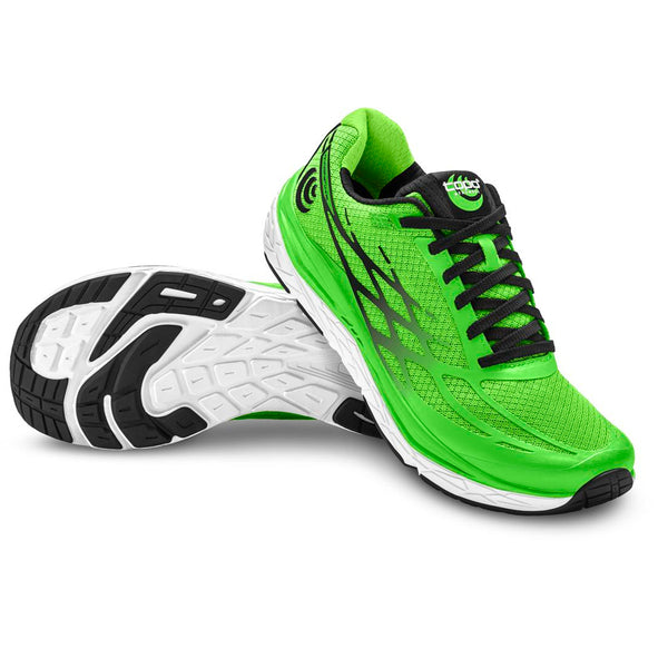 TOPO ATHLETIC Men's Magnifly 2 Bright Green/Black Running Shoe (M021-BGRBLK)