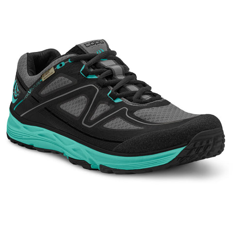 TOPO ATHLETIC Hydroventure Black/Turquoise Women's Running Shoe (W015-BLKTUR)