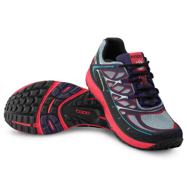 TOPO ATHLETIC MT-2 Indigo/Fuchsia Women's Running Shoe (W020-INDFUS)