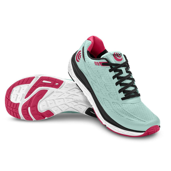 TOPO ATHLETIC Women's Magnifly 2 Ice/Raspberry Running Shoe (W021-ICERAS)
