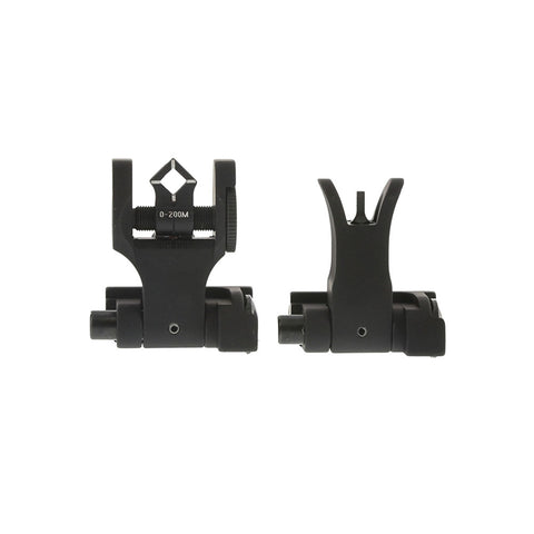 TROY Folding M4 Front and Dioptic Rear Offset Sight Set (SSIG-45S-MDBT-00)